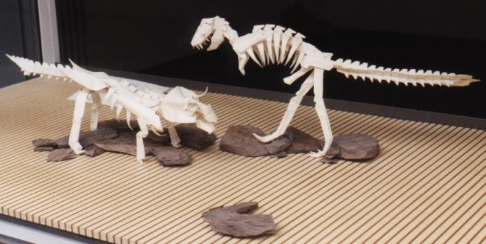 Как сделать динозавра рекса из бумаги